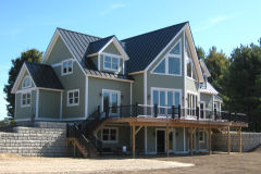 Timber frame homes post and beam homes for Post and beam kits maine
