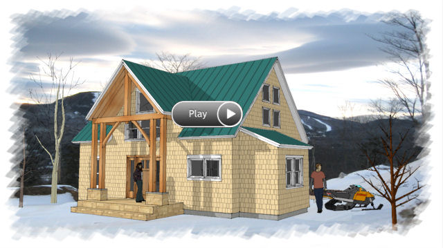 timber frame house plan 220 - Sample House Plans
